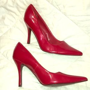 diba east Red pointed stiletto pumps 8.5 M EUC